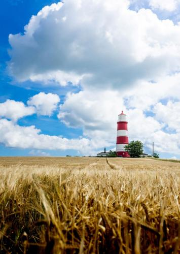 'Lighthouse field trip' - at Happisburgh by Lee M J Freeman